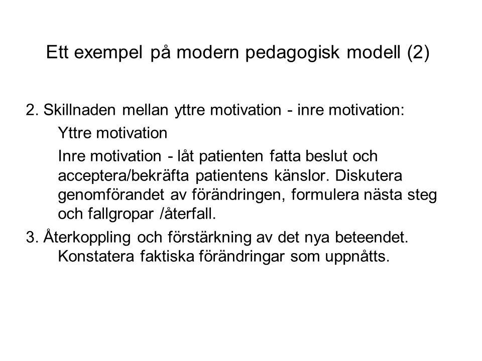 Ett exempel på modern pedagogisk modell (2)