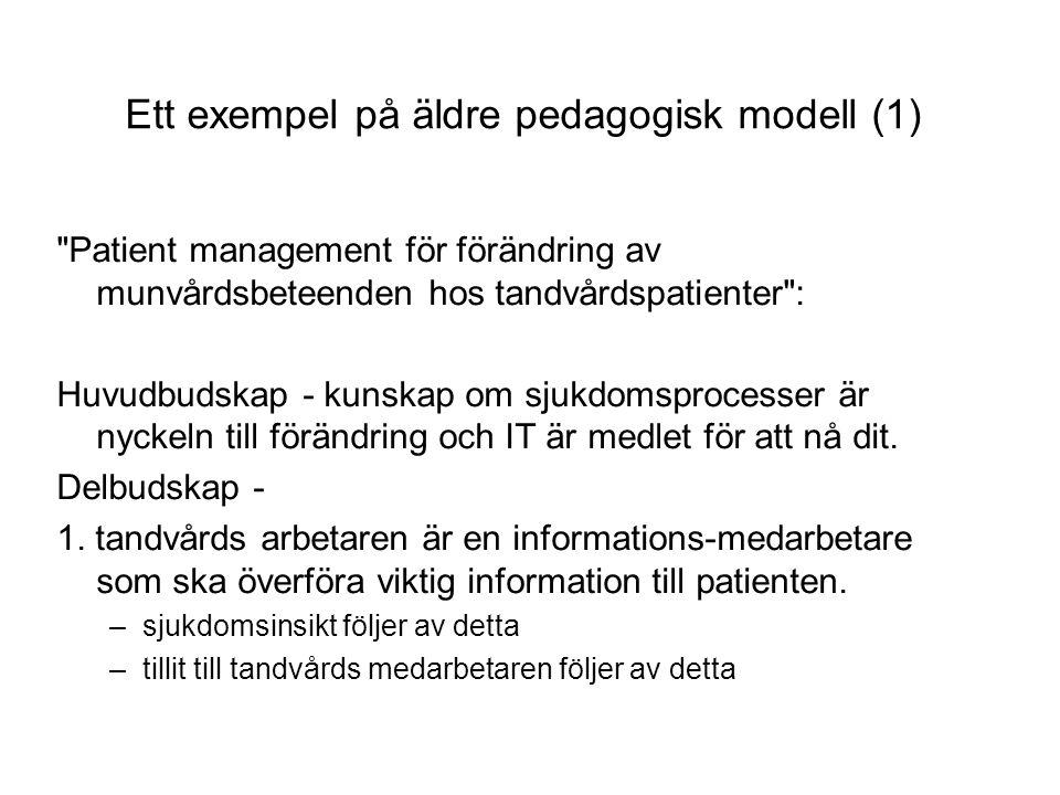 Ett exempel på äldre pedagogisk modell (1)