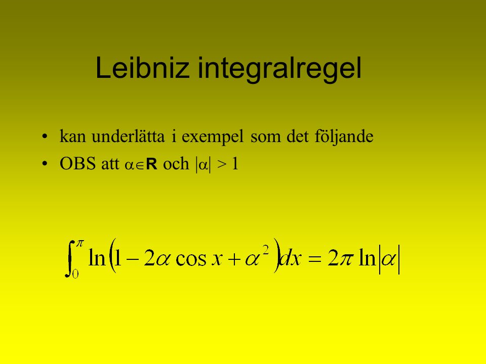 Leibniz integralregel