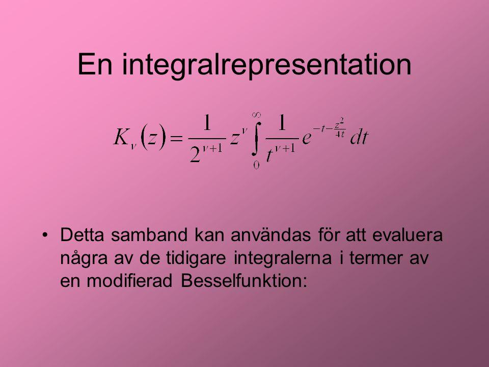 En integralrepresentation