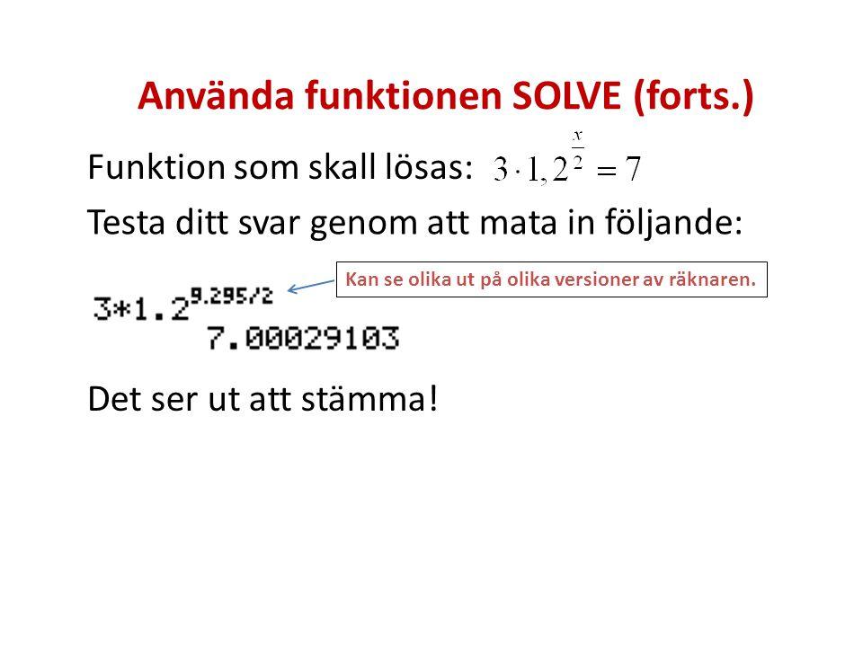 Använda funktionen SOLVE (forts.)
