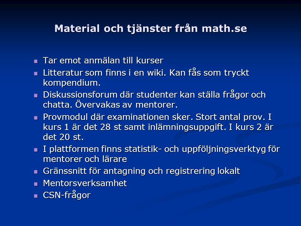 Material och tjänster från math.se