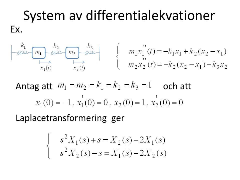 System av differentialekvationer