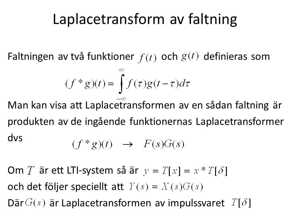 Laplacetransform av faltning