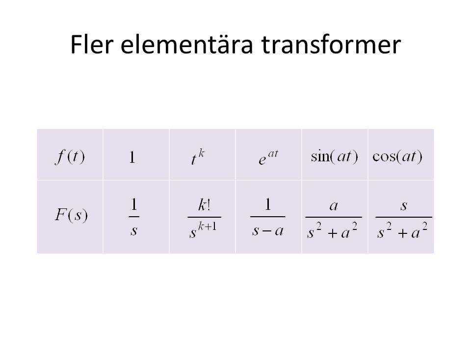Fler elementära transformer