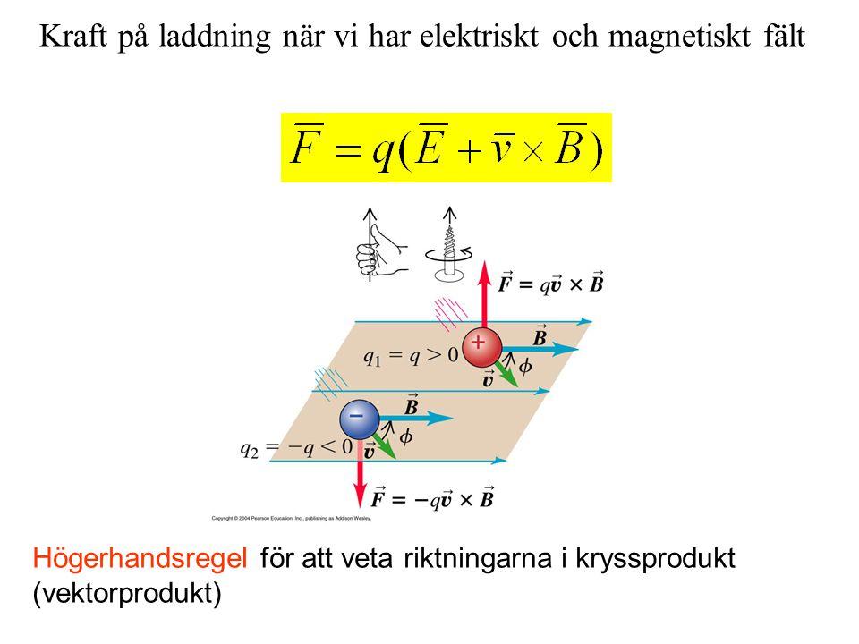 Kraft på laddning när vi har elektriskt och magnetiskt fält