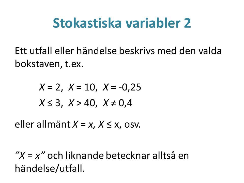 Stokastiska variabler 2