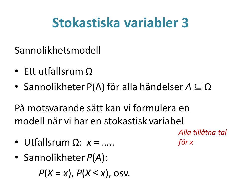 Stokastiska variabler 3