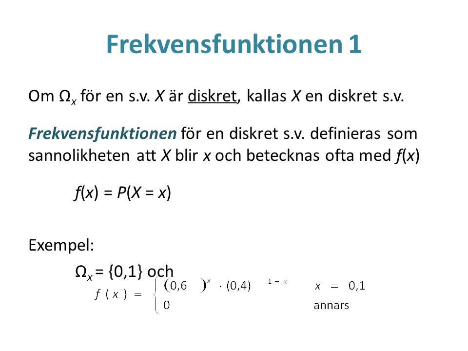 Frekvensfunktionen 1