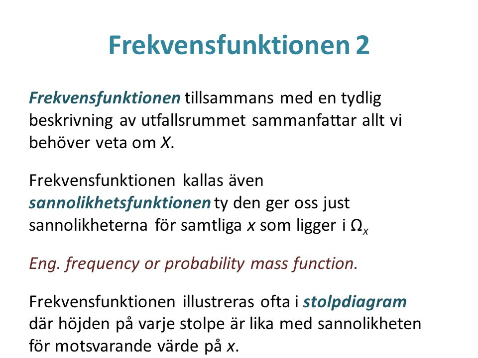 Frekvensfunktionen 2