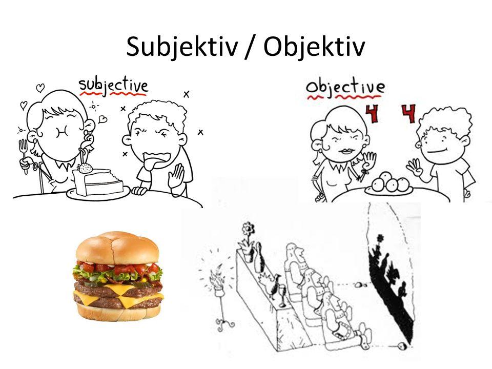Subjektiv / Objektiv