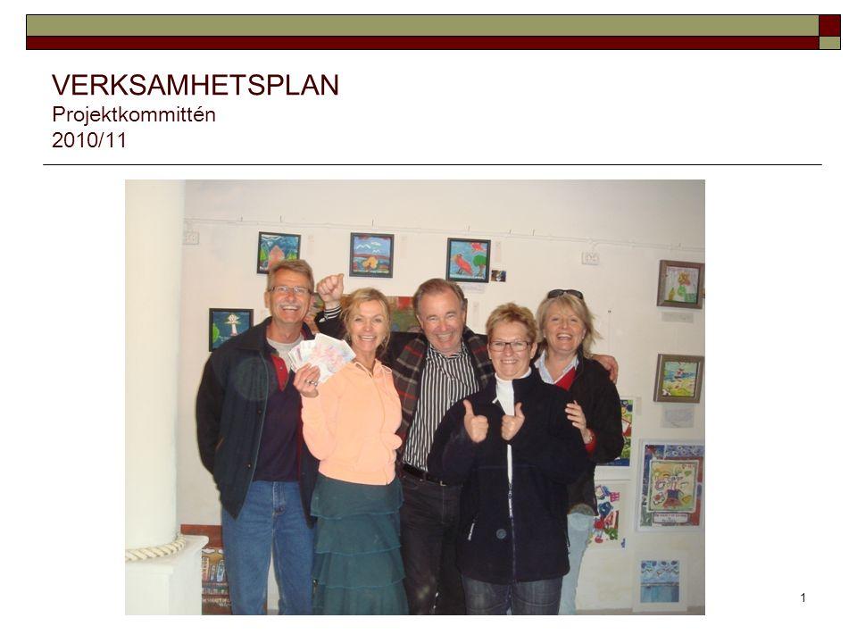 VERKSAMHETSPLAN Projektkommittén 2010/11