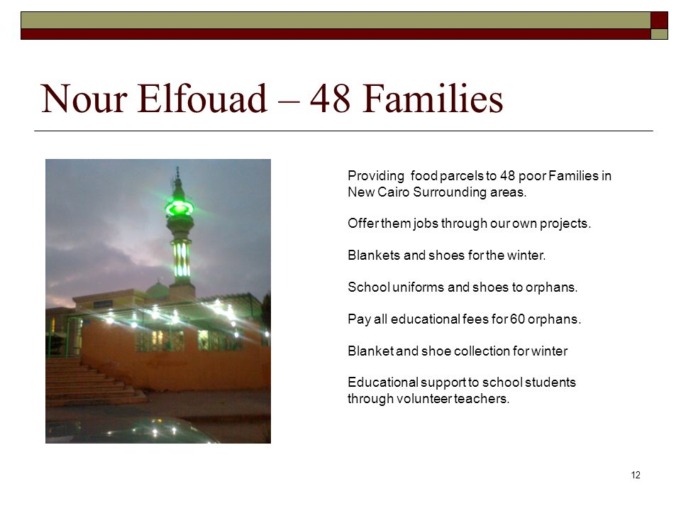 Nour Elfouad – 48 Families