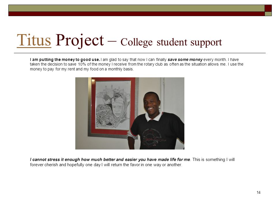 Titus Project – College student support