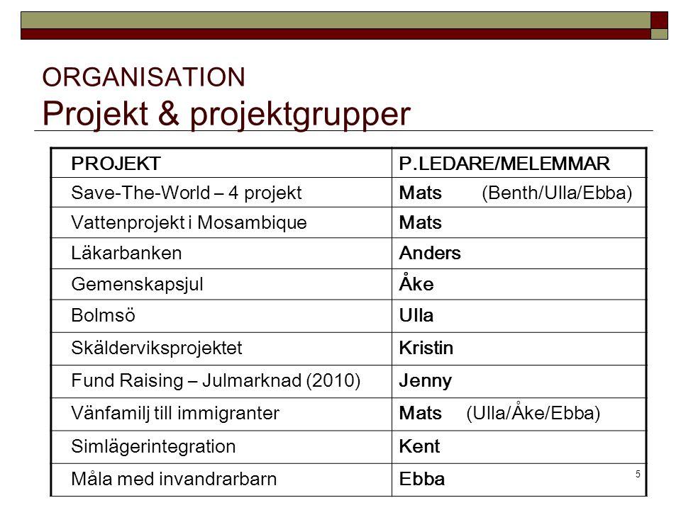 ORGANISATION Projekt & projektgrupper