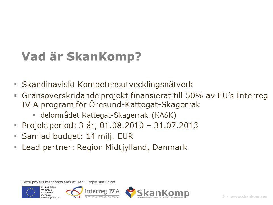 Vad är SkanKomp Skandinaviskt Kompetensutvecklingsnätverk