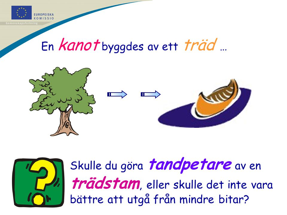 En kanot byggdes av ett träd …