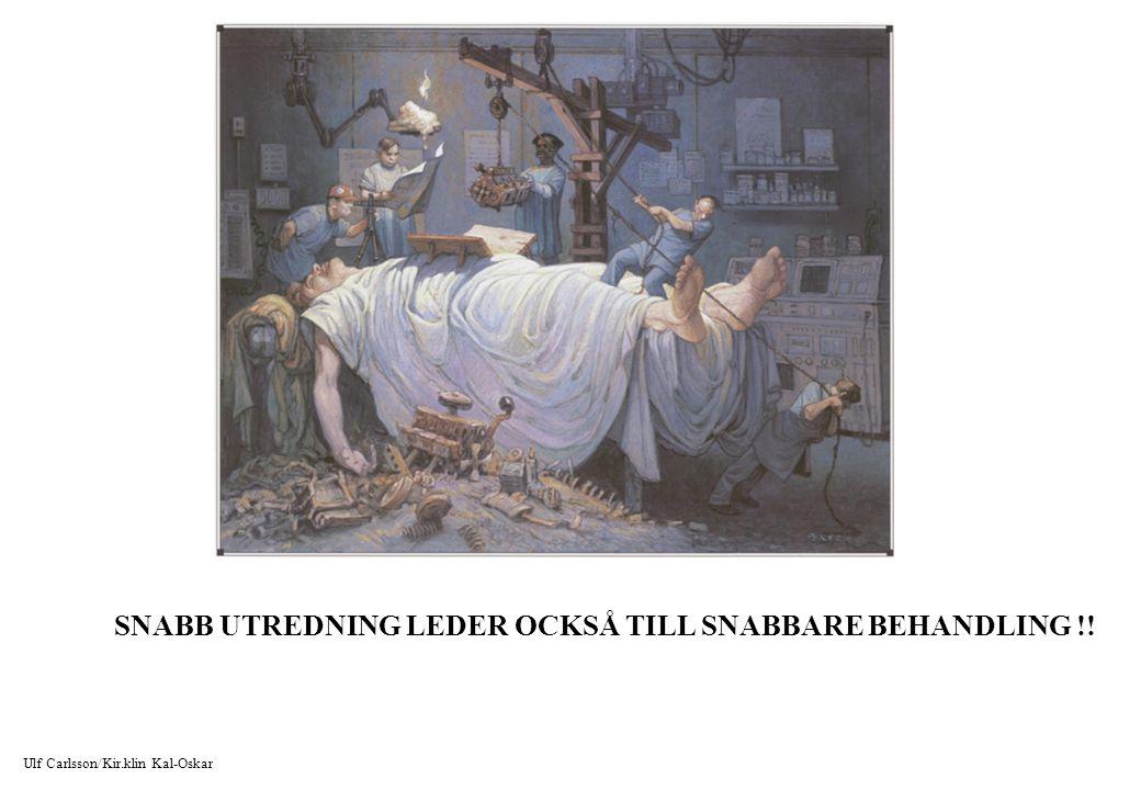 SNABB UTREDNING LEDER OCKSÅ TILL SNABBARE BEHANDLING !!