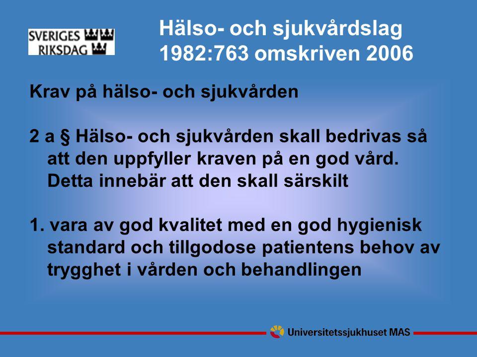 Hälso- och sjukvårdslag 1982:763 omskriven 2006