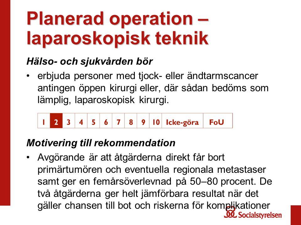 Planerad operation –laparoskopisk teknik