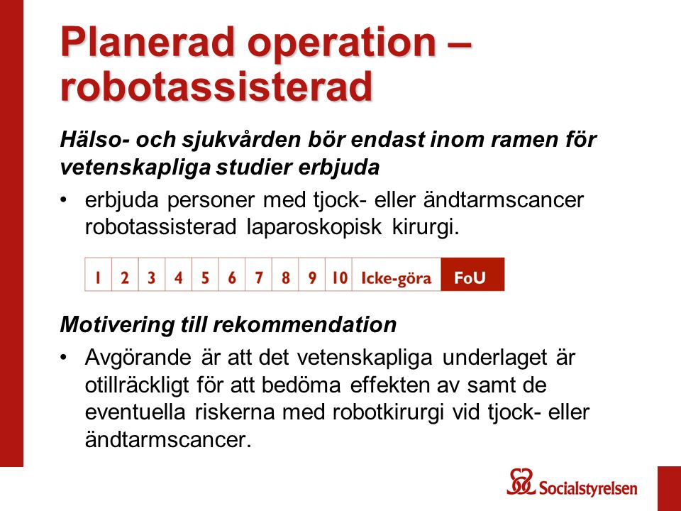 Planerad operation –robotassisterad