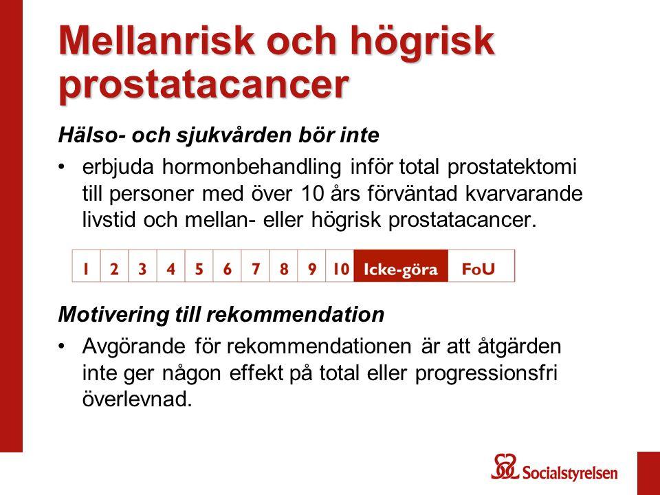 Mellanrisk och högrisk prostatacancer