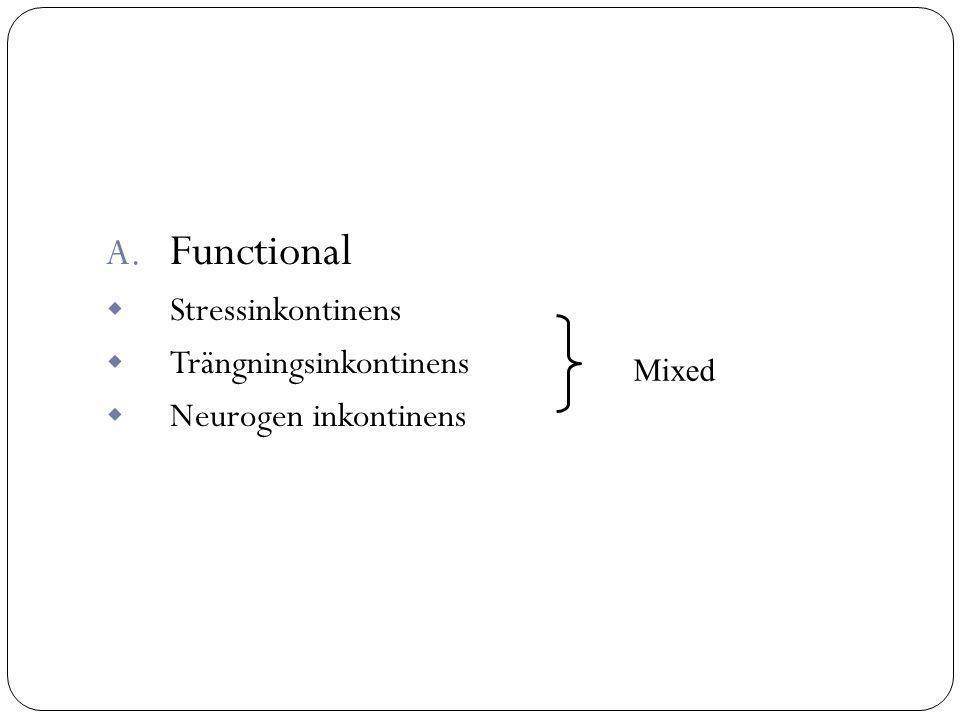 Functional Stressinkontinens Trängningsinkontinens