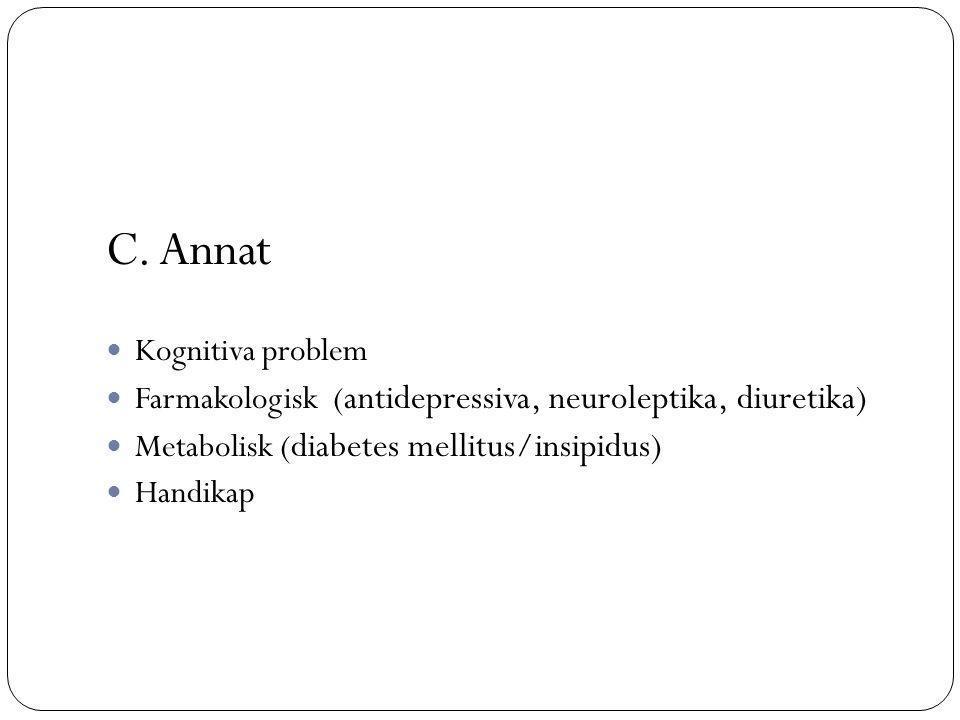 C. Annat Kognitiva problem