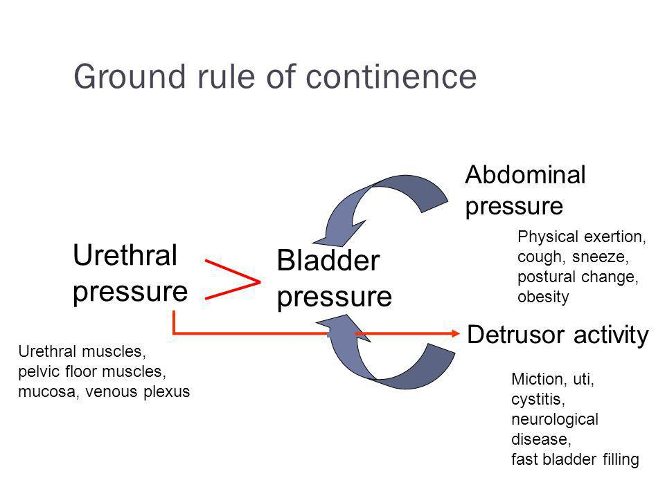 Ground rule of continence