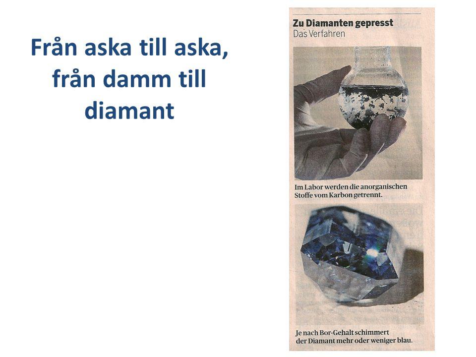Från aska till aska, från damm till diamant