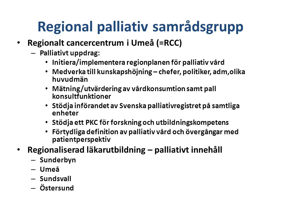 Regional palliativ samrådsgrupp