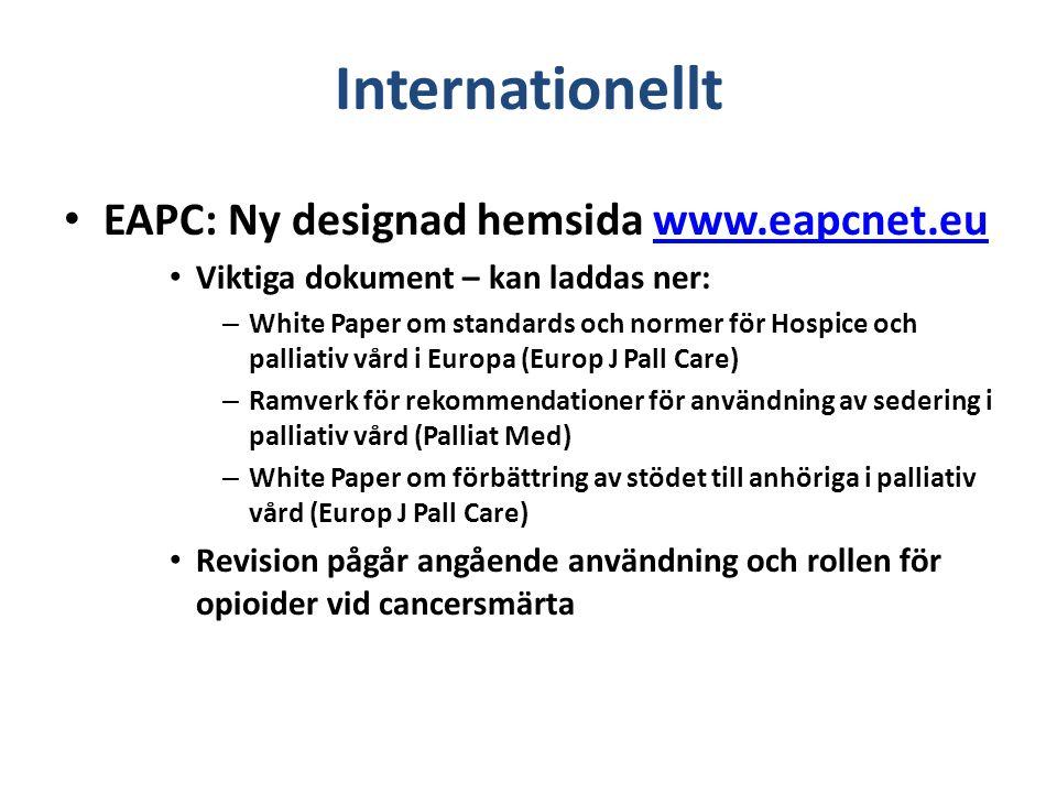 Internationellt EAPC: Ny designad hemsida www.eapcnet.eu