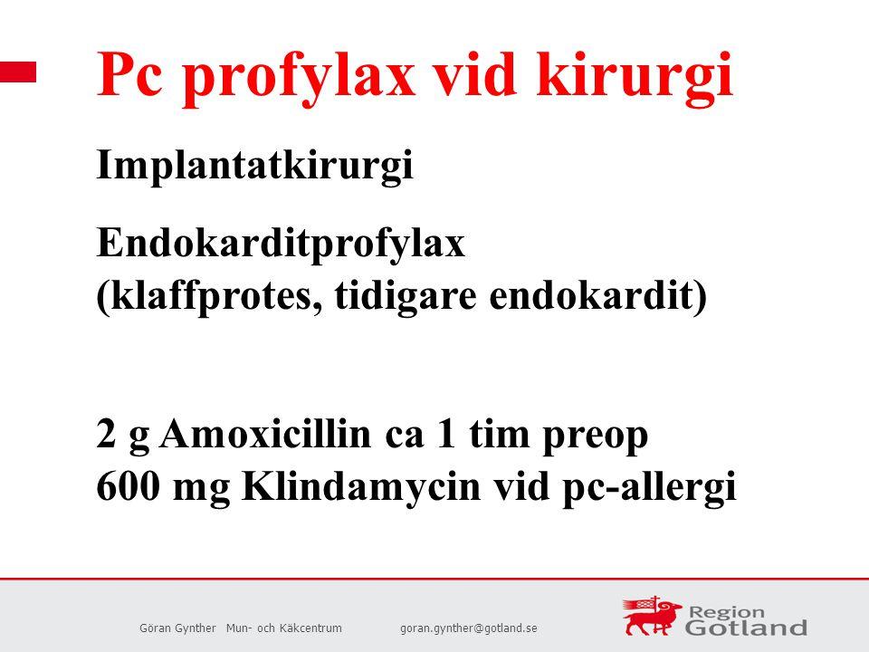 Pc profylax vid kirurgi