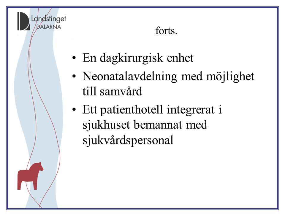 Neonatalavdelning med möjlighet till samvård