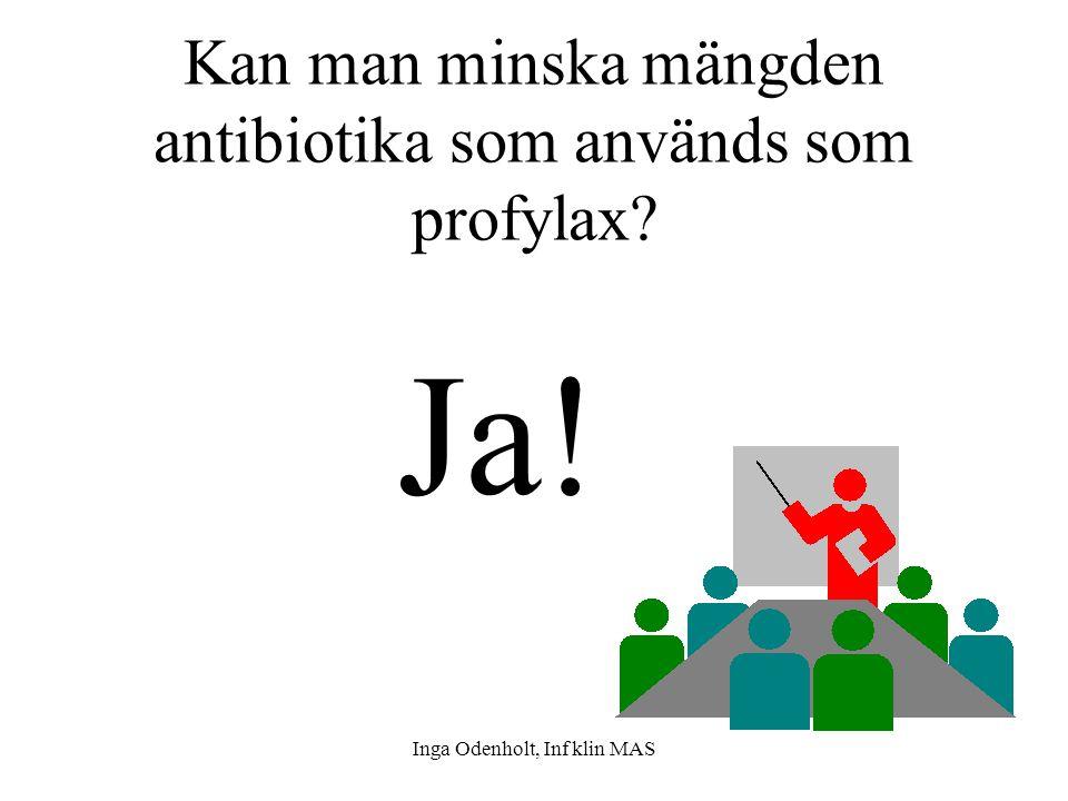 Kan man minska mängden antibiotika som används som profylax