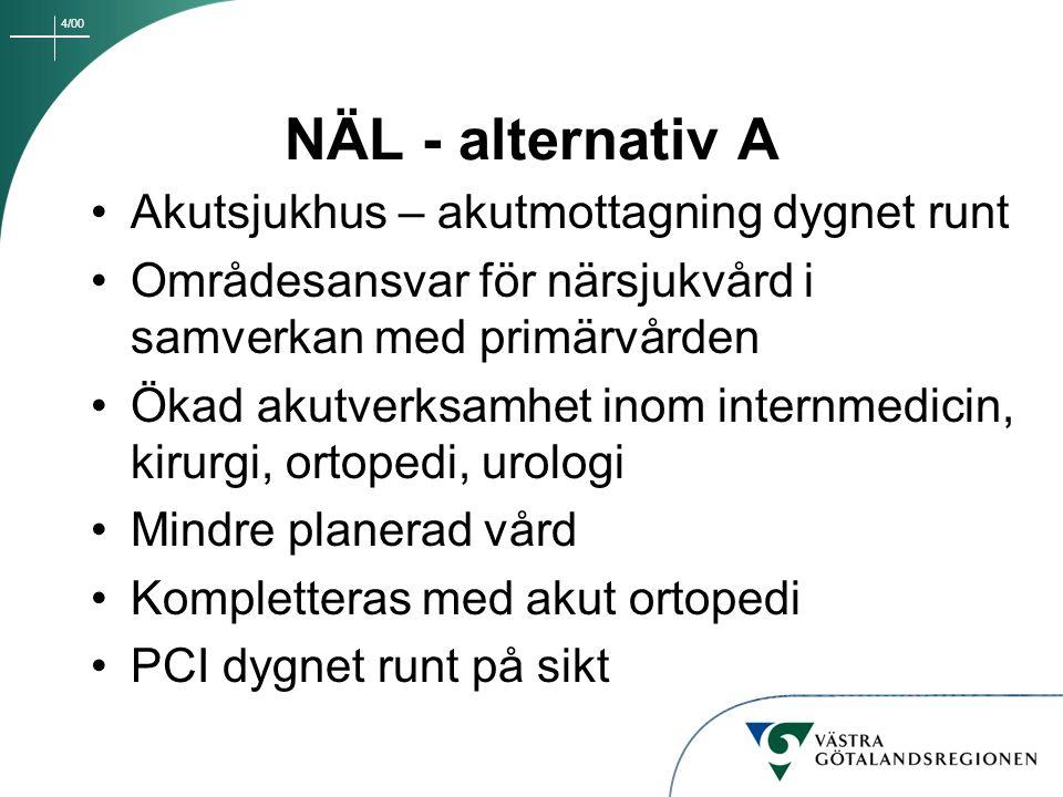 NÄL - alternativ A Akutsjukhus – akutmottagning dygnet runt