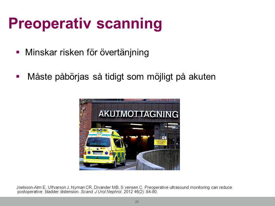 Preoperativ scanning Minskar risken för övertänjning