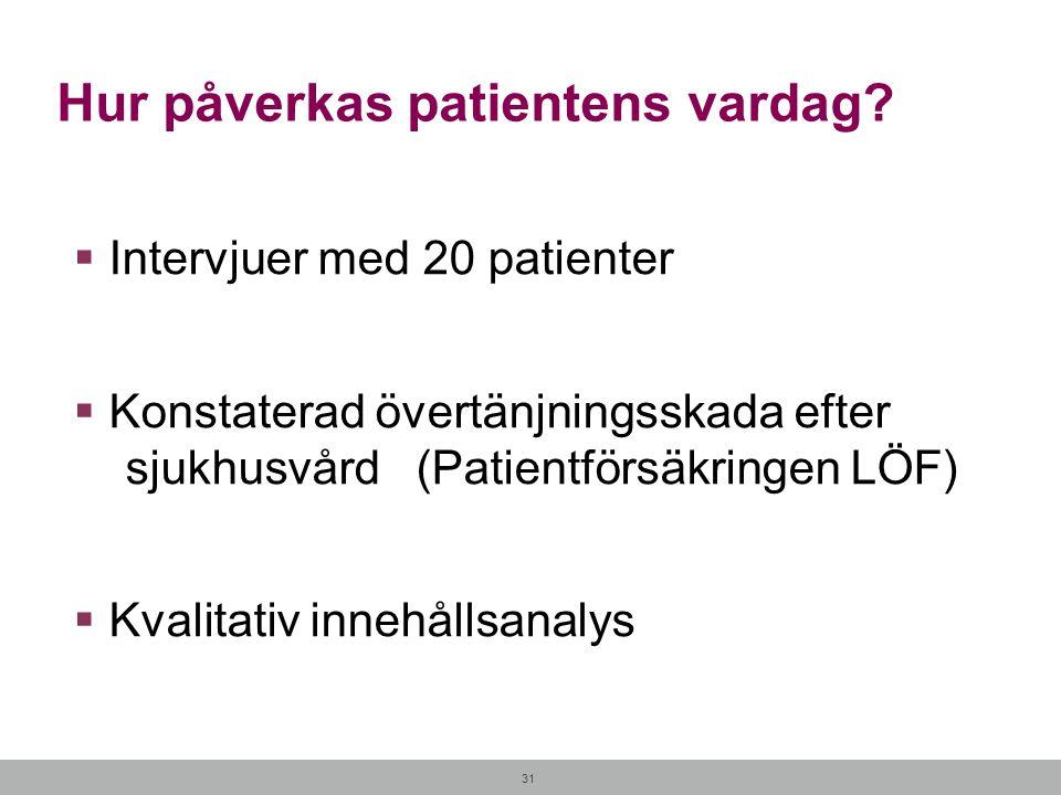 Hur påverkas patientens vardag
