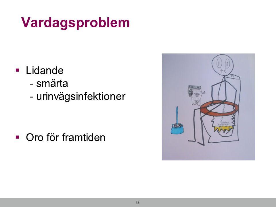 Vardagsproblem Lidande - smärta - urinvägsinfektioner