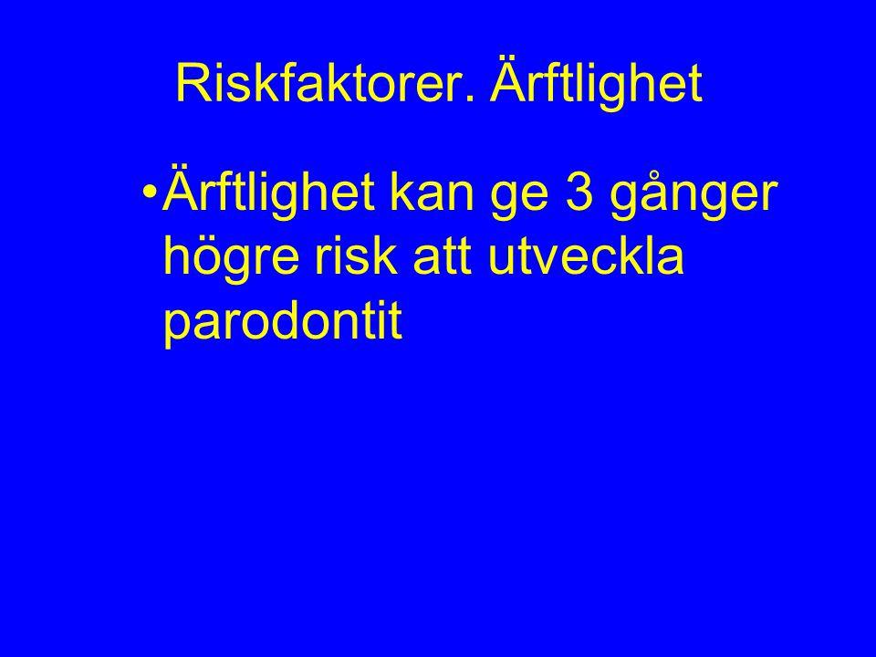 Riskfaktorer. Ärftlighet