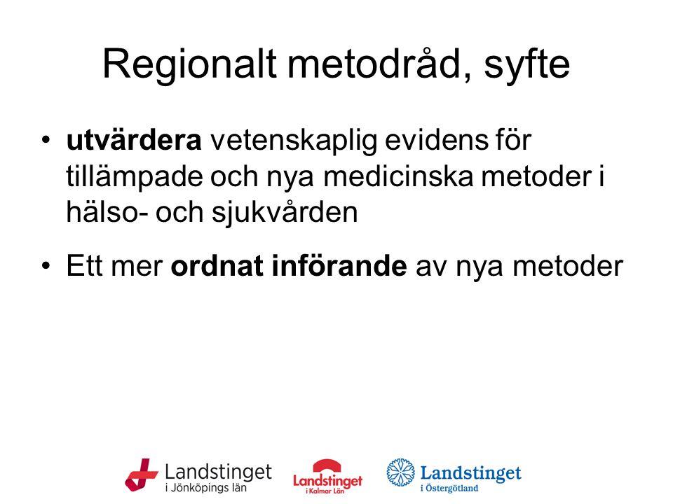 Regionalt metodråd, syfte