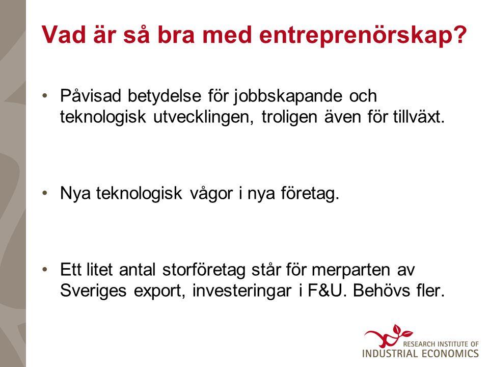 Vad är så bra med entreprenörskap