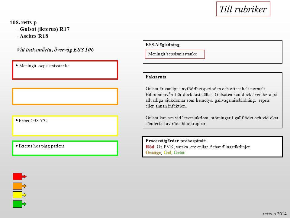 Till rubriker 108. retts-p - Gulsot (ikterus) R17 - Ascites R18