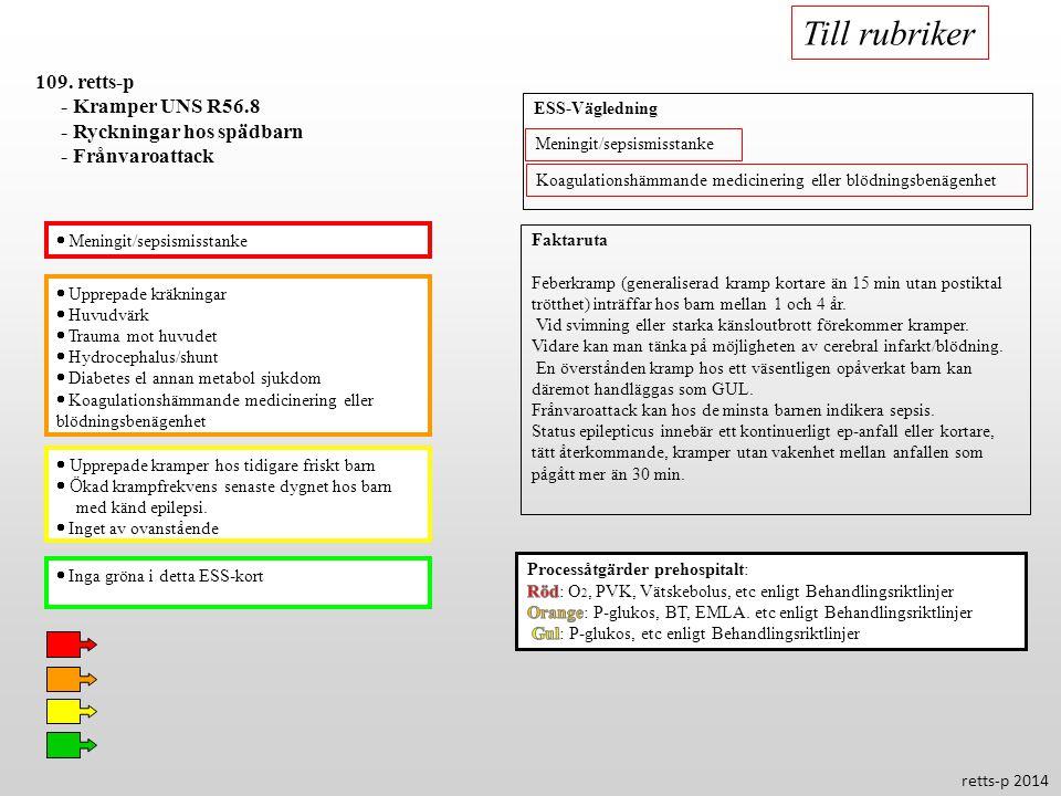 Till rubriker 109. retts-p - Kramper UNS R56.8