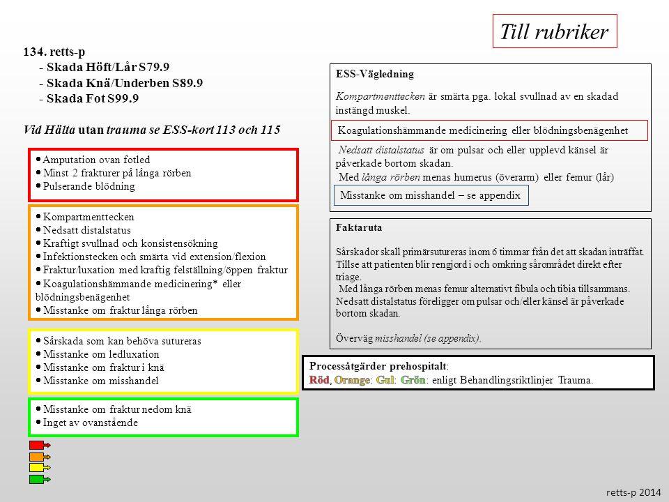 Till rubriker 134. retts-p - Skada Höft/Lår S79.9