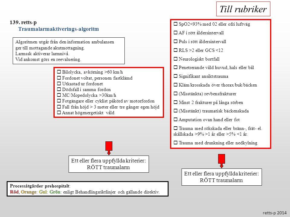 Till rubriker 139. retts-p Traumalarmaktiverings-algoritm
