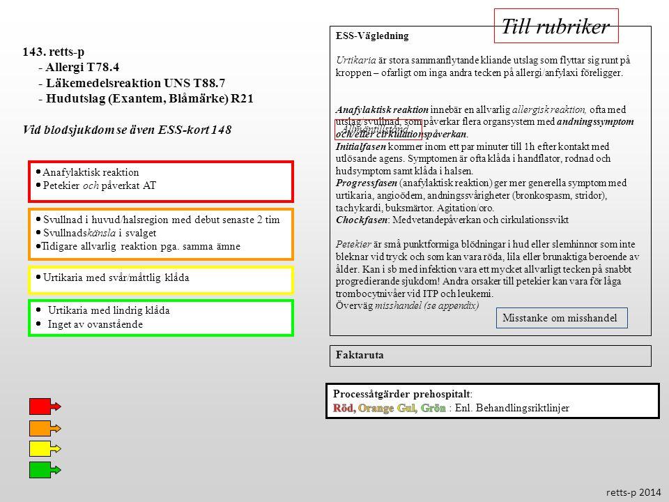 Till rubriker 143. retts-p - Allergi T78.4