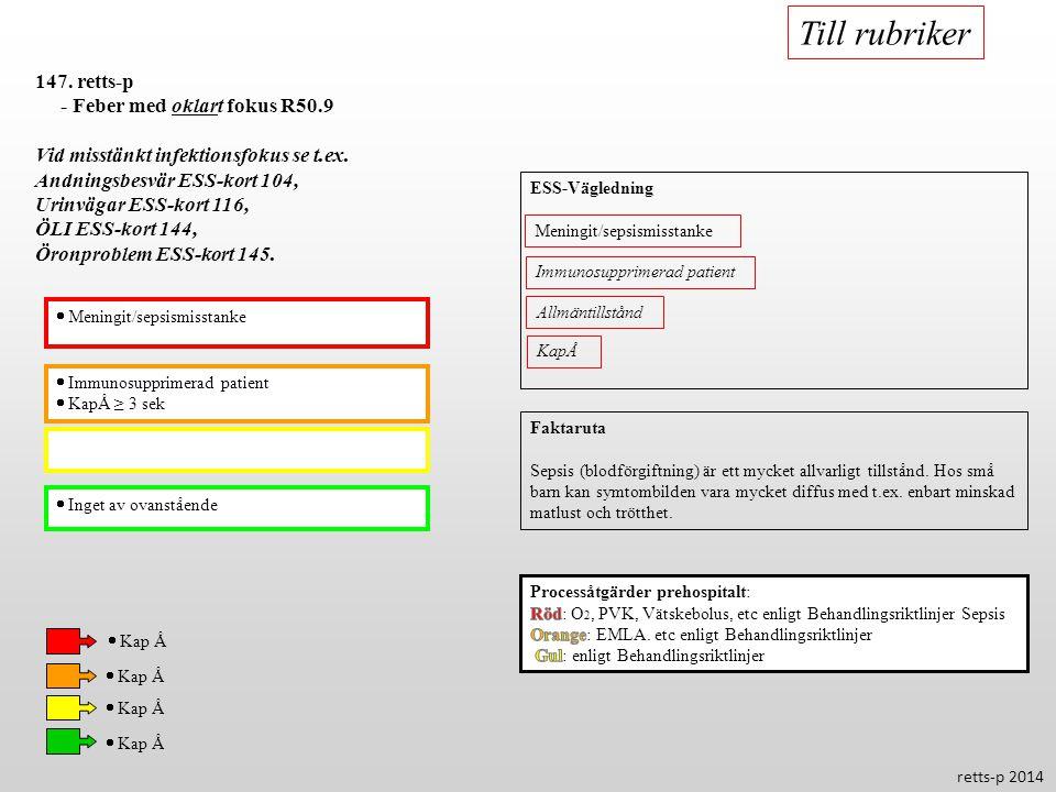 Till rubriker 147. retts-p - Feber med oklart fokus R50.9