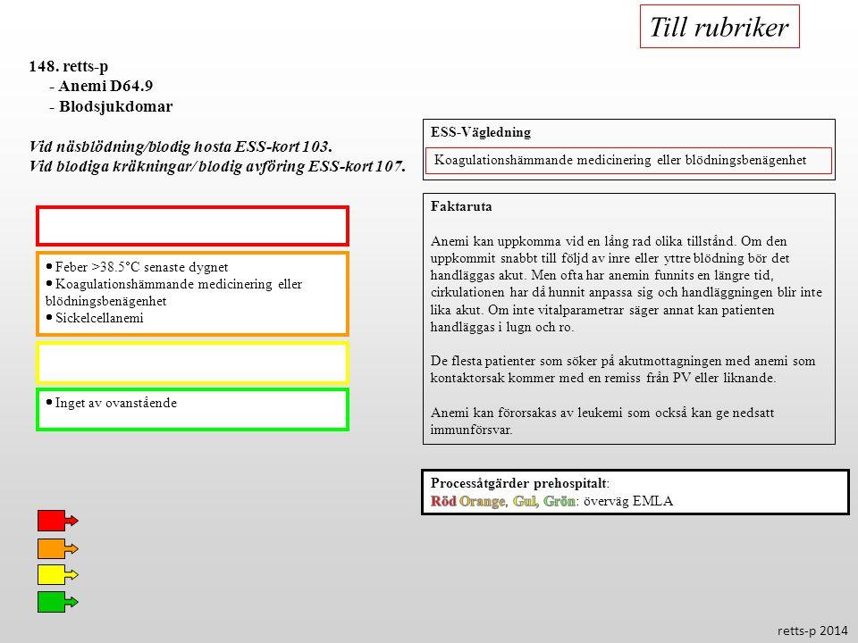 Till rubriker 148. retts-p - Anemi D64.9 - Blodsjukdomar