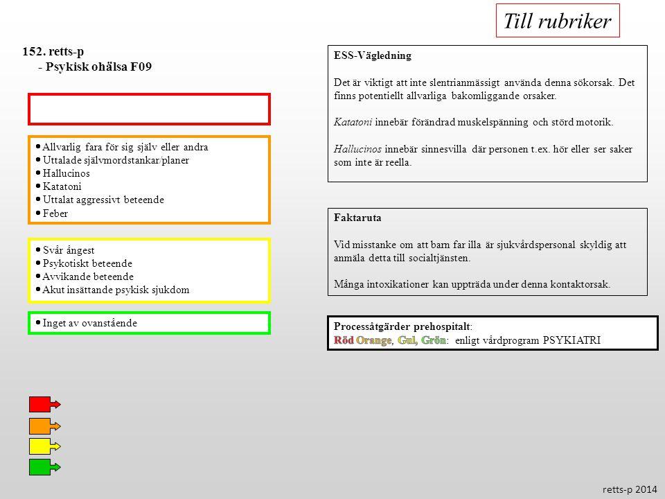 Till rubriker 152. retts-p - Psykisk ohälsa F09 ESS-Vägledning